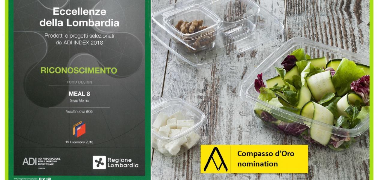 MEAL8® è stato premiato fra le eccellenze della Lombardia, è inserito nell'ADI DESIGN INDEX 2019 e candidato al Compasso d'Oro 2020