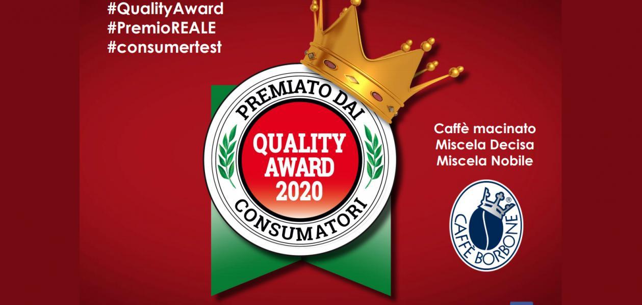 Caffè Borbone vince il Quality Award 2020 per il caffè macinato
