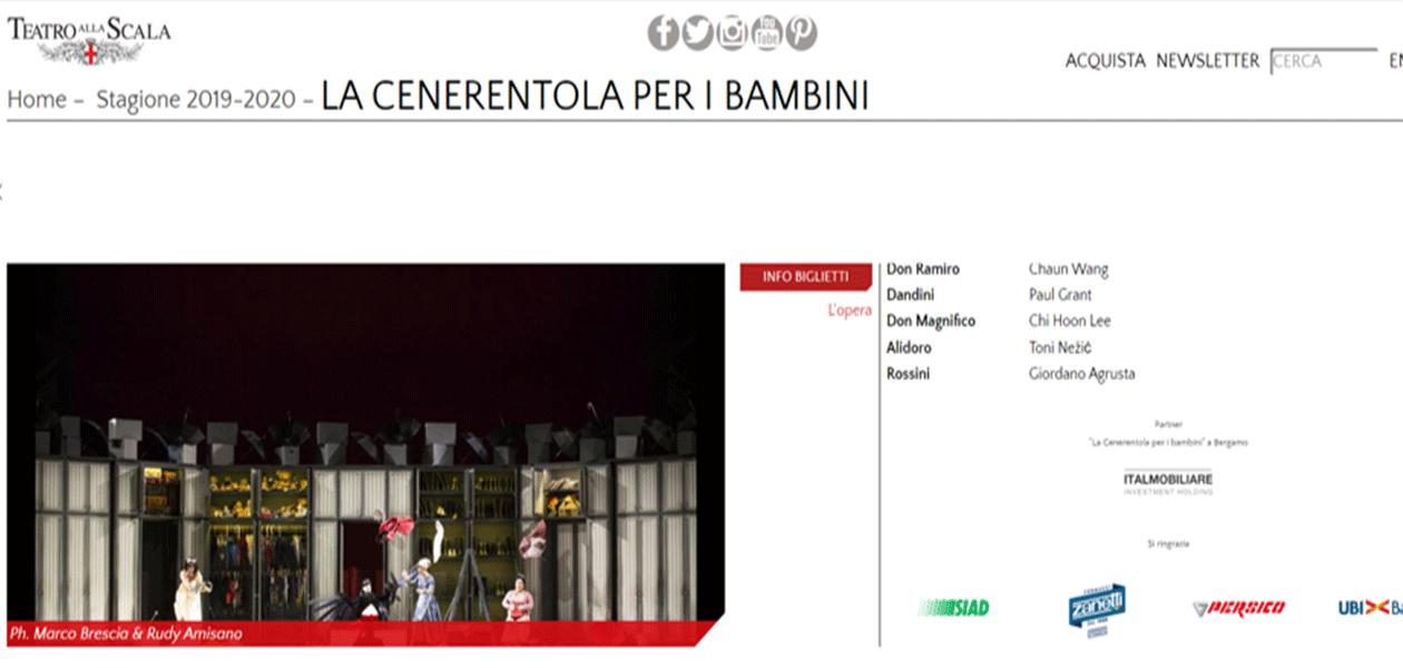 Il teatro alla Scala a Bergamo grazie a Italmobiliare